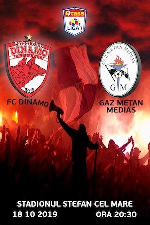 FC Dinamo Bucuresti - CS Gaz Metan Medias - Casa Liga 1
