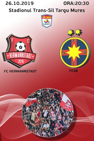 Bilete la  FC Hermannstadt - FCSB - Casa Liga 1