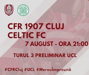 Bilete la  CFR 1907 Cluj vs Celtic Glasgow