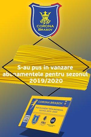 Bilete la  CSM CORONA BRASOV ABONAMENTE HANDBAL