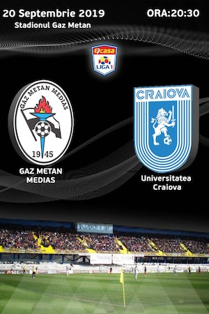 CS Gaz Metan Medias - Universitatea Craiova - CASA Liga 1