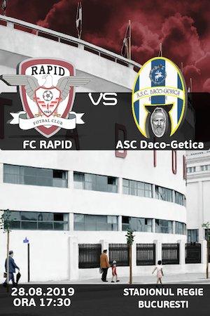 FC Rapid Bucurest vs ASC Daco-Getica - Cupa Romaniei
