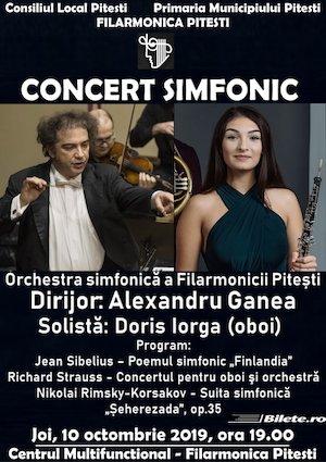 Concert simfonic la Filarmonica Pitesti cu Alexandru Ganea