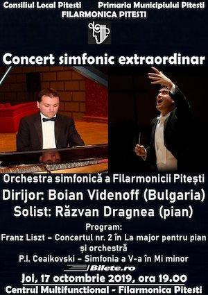 Concert simfonic la Filarmonica Pitesti cu Boian Videnoff