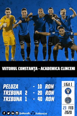 Bilete la  FC Viitorul v ACS Academica Clinceni - Casa Liga 1