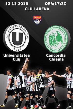 Bilete la  FC Universitatea Cluj v CS Concordia Chiajna
