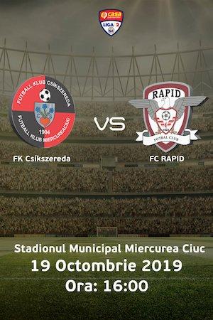 FK Csikszereda - Rapid Bucuresti