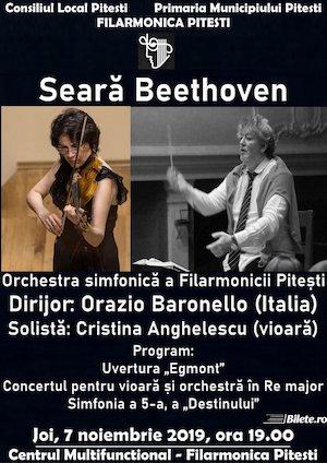 Bilete la  Concert simfonic la Filarmonica Pitesti - Seara Beethoven