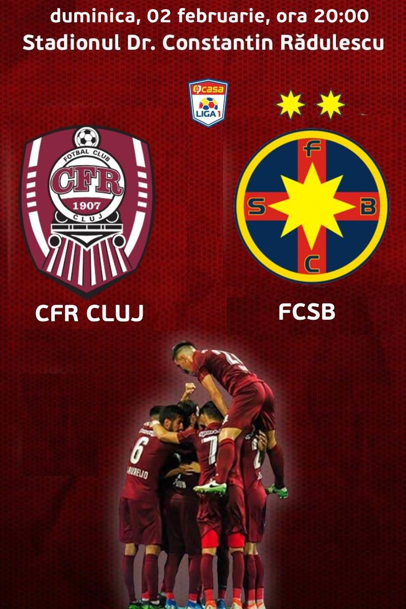 CFR 1907 Cluj v FCSB - CASA Liga 1 - 02 feb 2020  |Fcsb- Cfr Cluj
