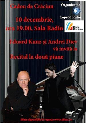 Recital la doua piane EDUARD KUNZ si ANDREI DIEV
