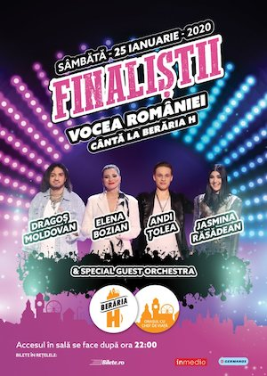 Bilete la  Finalistii Vocea Romaniei Canta la Beraria H