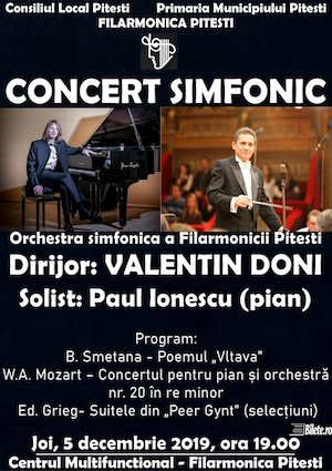Concert simfonic la Filarmonica Pitesti 5 decembrie