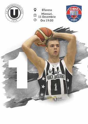 U-Banca Transilvania vs CSM Oradea - FIBA Europe Cup