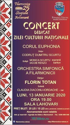 Bilete la  Concert dedicat zilei culturii Nationale