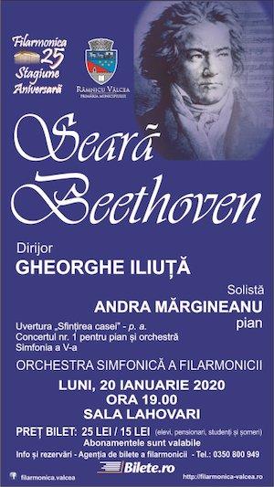 Bilete la  Seara Beethoven - Filarmonica Ramnicul Valcea