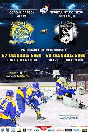Bilete la  CSM Corona Brasov Wolves - Sportul Studentesc Bucuresti
