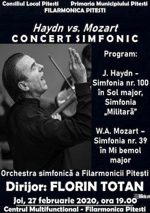 Concert simfonic Haydn vs Mozart