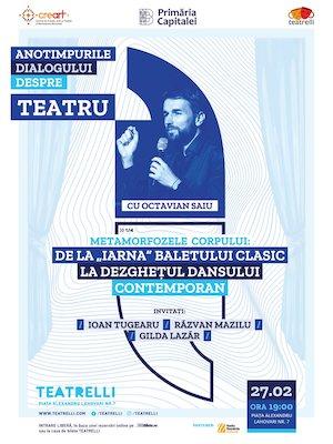 Bilete la  Anotimpurile dialogului despre teatru cu Octavian Saiu