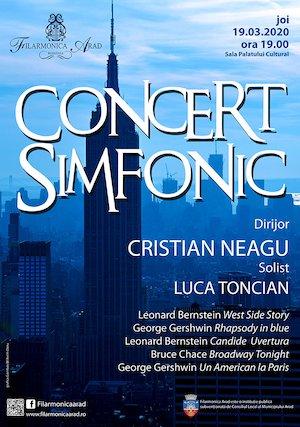 Concert simfonic - Cristian Neagu