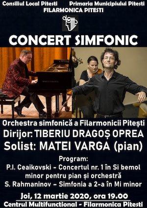 Concert simfonic cu Matei Varga si Tiberiu Dragos