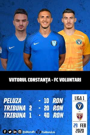FC Viitorul - FC Voluntari - Casa Liga 1