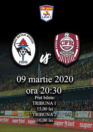 Bilete la  Gaz Metan Medias - CFR 1907 Cluj - CASA Liga 1