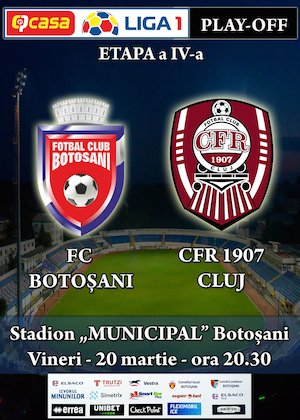 Bilete la  FC Botosani - CFR 1907 Cluj - CASA Liga 1