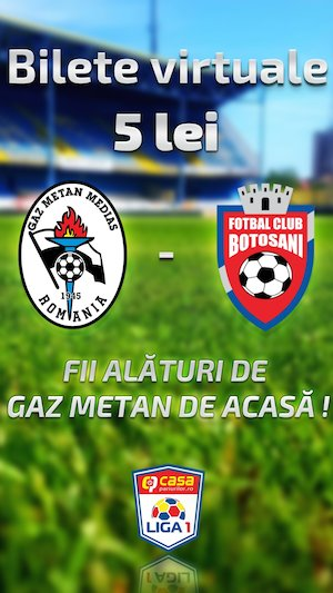 Bilete la  Gaz Metan Medias vs FC Botosani - Virtual