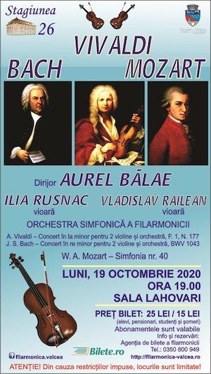 Bilete la  Vivaldi, Bach, Mozart