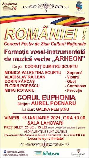 Bilete la  ROMANIEI! - Concert Festiv de Ziua Culturii Nationale