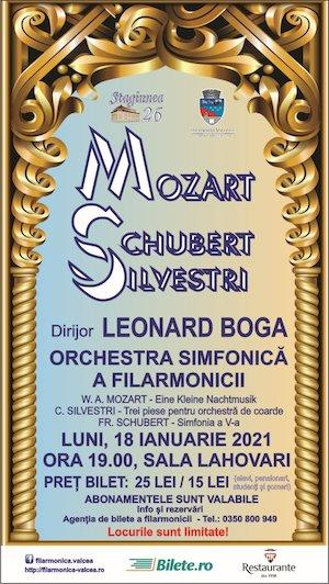 Mozart, Schubert, Silvestri