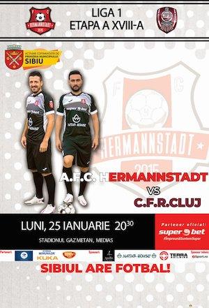 Bilete la  A.F.C. Hermannstadt vs C.F.R. Cluj