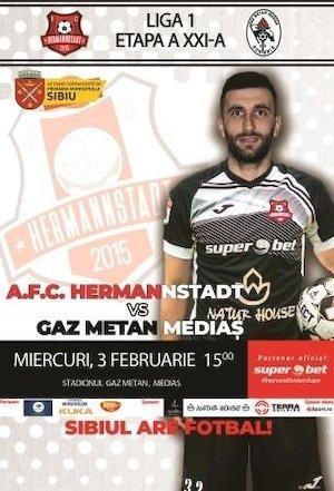 Bilete la  FC Hermannstadt - Gaz Metan Medias