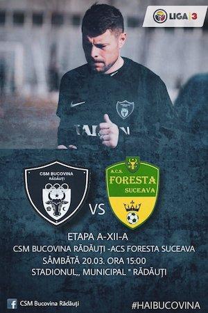Bilete la  CSM Bucovina Radauti - ACS Foresta Suceava