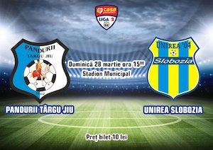 Bilete la  Pandurii Tg Jiu - AFC Unirea Slobozia