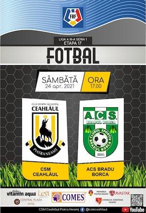 Bilete la  CSM Ceahlaul Piatra Neamt - ACS Bradu Borca