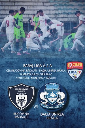 Bilete la  CSM Bucovina Radauti - Dacia Unirea Braila