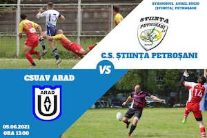 Bilete la  CS Stiinta Petrosani - CSUAV Arad
