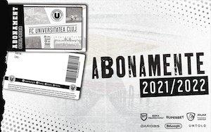 Abonamente U Cluj 2021-2022