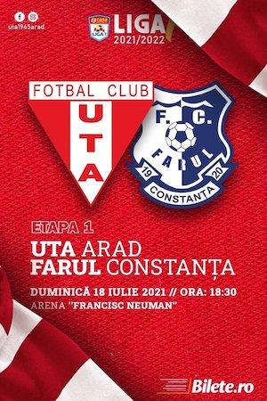 Bilete la  UTA Arad - Farul Constanta - Casa Liga 1