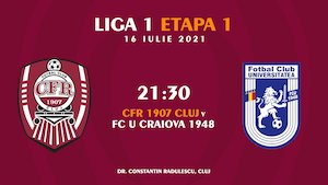 Bilete la  CFR Cluj - U Craiova - Casa Liga 1