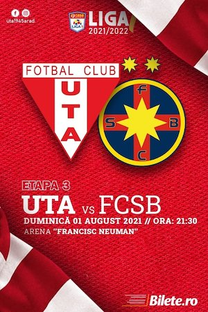 UTA Arad - FCSB - CASA Liga 1