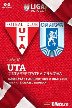 Bilete la  UTA Arad - CS Universitatea Craiova - CASA Liga 1
