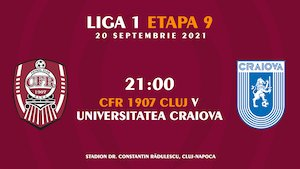 CFR 1907 Cluj - Universitatea Craiova - CASA Liga 1