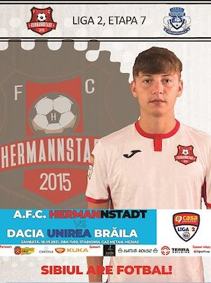 Bilete la  AFC Hermannstadt - Dacia Unirea Braila