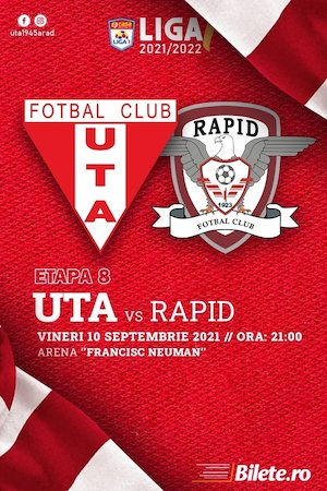 Bilete la  UTA Arad - FC RAPID - CASA Liga 1