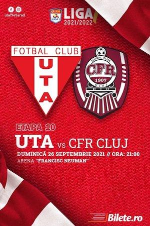 Bilete la  UTA Arad - CFR Cluj - CASA Liga 1