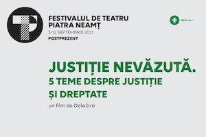 Bilete la  JUSTIȚIE NEVĂZUTĂ. 5 teme despre justiție și dreptate