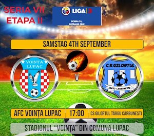 Bilete la  AFC Vointa Lupac - CS Gilortul Targu Carbunesti
