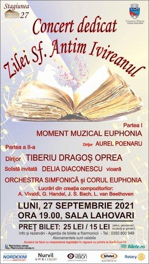 Bilete la  Concert dedicat zilei Sf. Antim Ivireanul